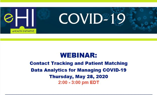 Webinar: Contact Tracing and Patient Matching (data and analytics for managing COVID-19)
