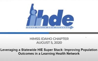 Webinar: Leveraging a Statewide HIE Super Stack: Improving Population Outcomes in a Learning Health Network