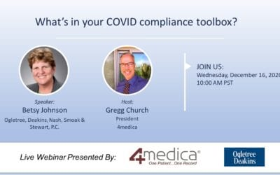 A Must Attend Webinar: What's in your COVID compliance toolbox?